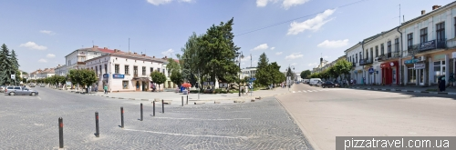 Taras Shevchenko square in Kolomyia