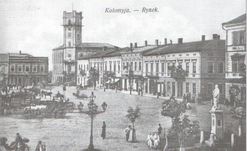 Коломыя. Площадь Рынок в начале 20-го века
