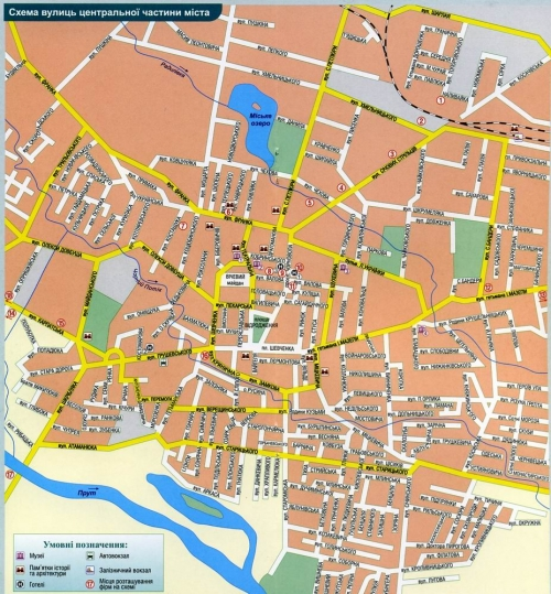 Map of Kolomyia