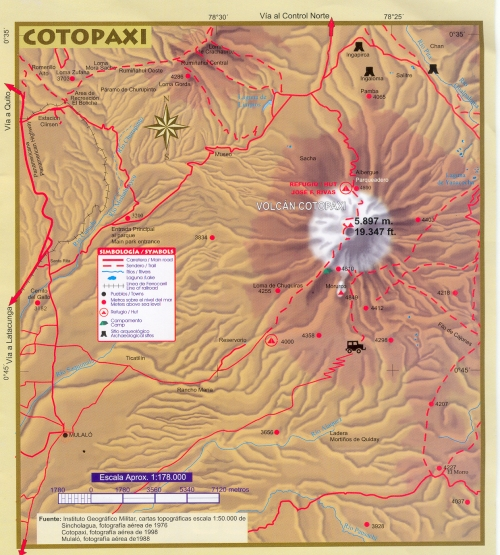 Карта парка Котопакси