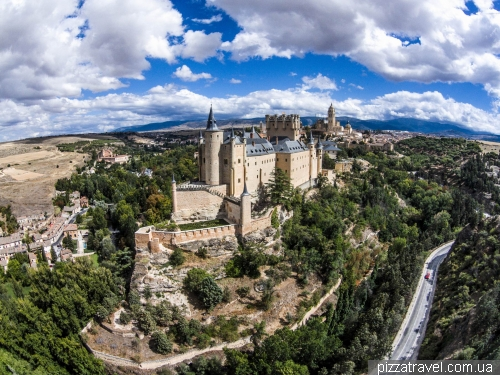 Castle in the town of Segovia