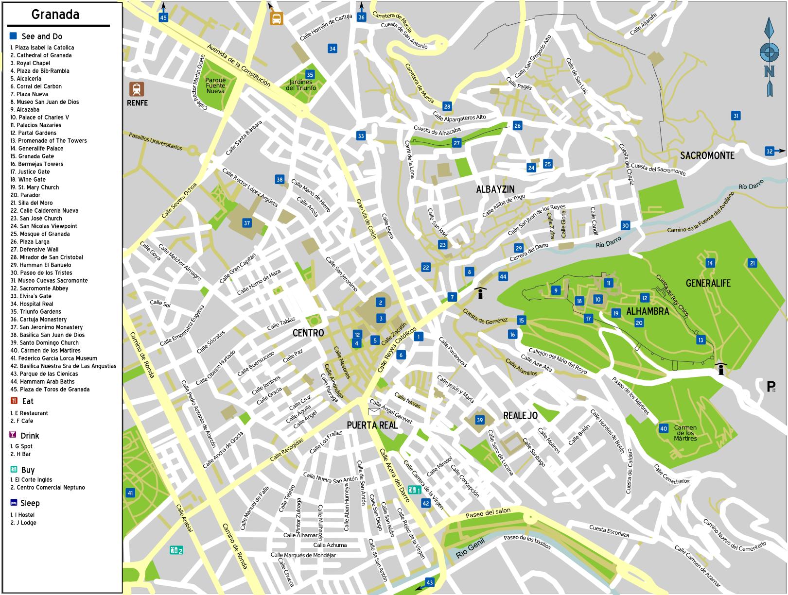 гранада испания на карте ЦИАТиМ для смазки