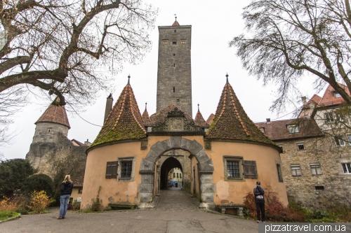 Замковые ворота в Ротенбург-на-Таубере
