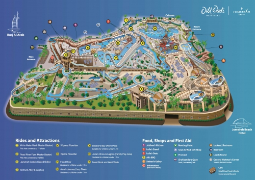 Wild Wadi Water Park Map