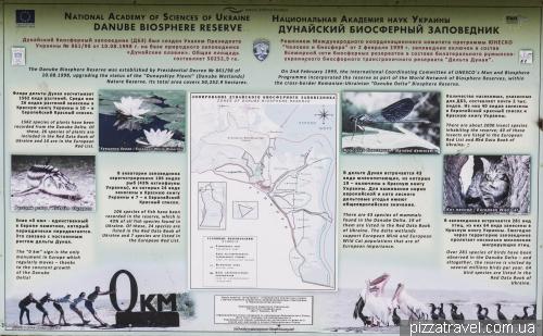 Схема Дунайского биосферного заповедника
