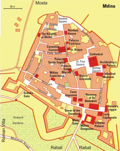 Mdina Map