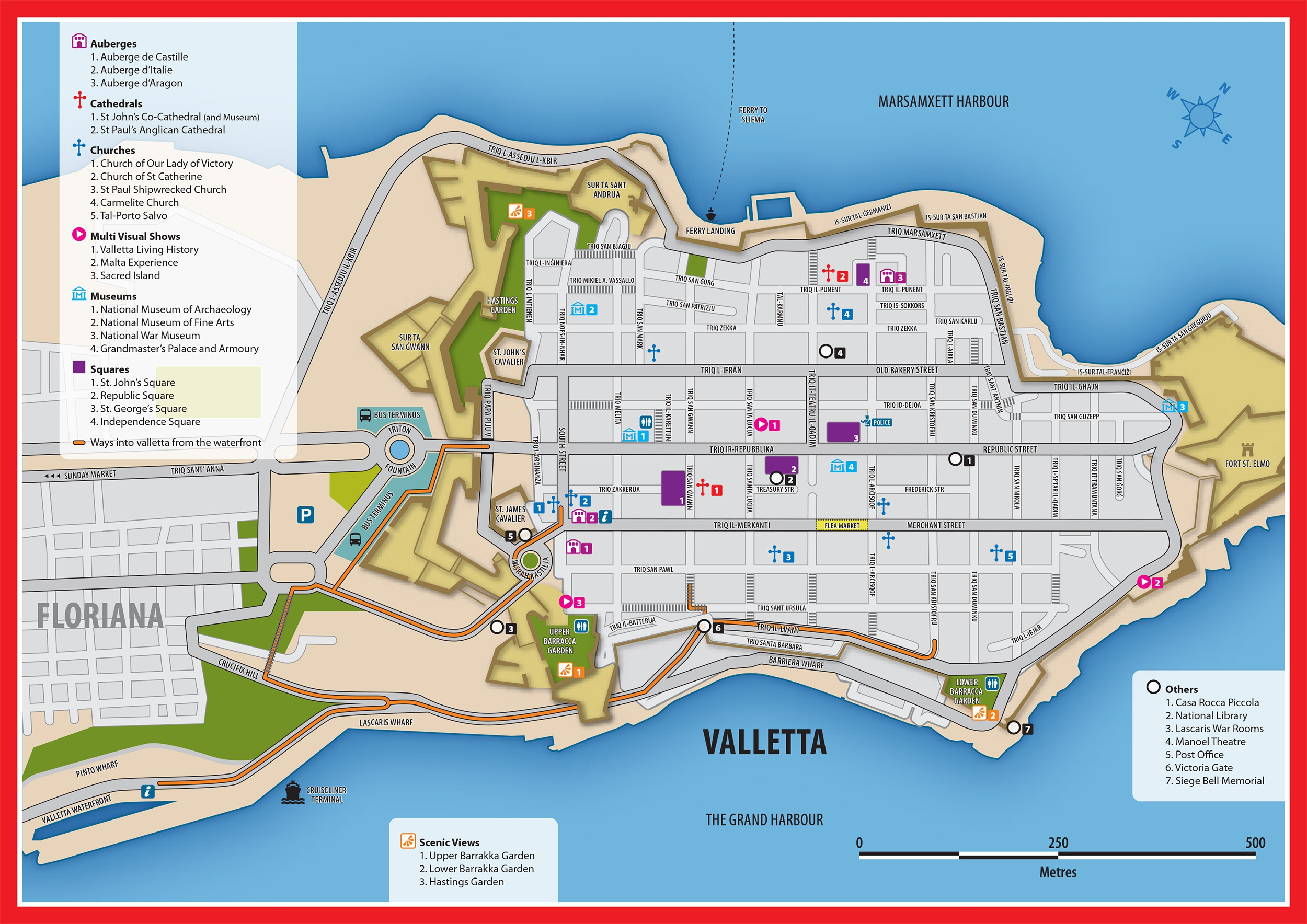 malta tourist map pdf days in malta the itinerary arriva map days