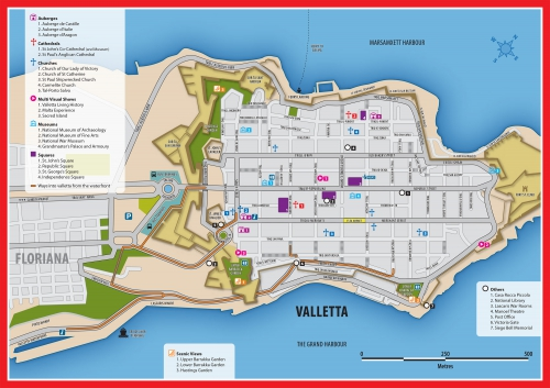 Valletta map