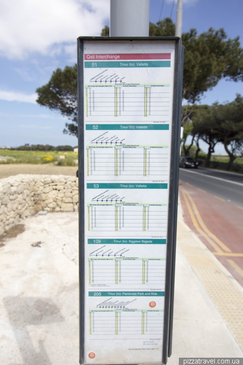 Bus stop in Malta