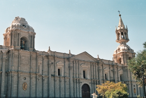 Arequipa Cathedral, destroyed by an earthquake in 2001,