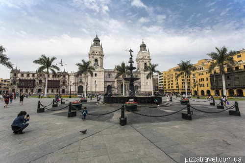 The central square of Lima