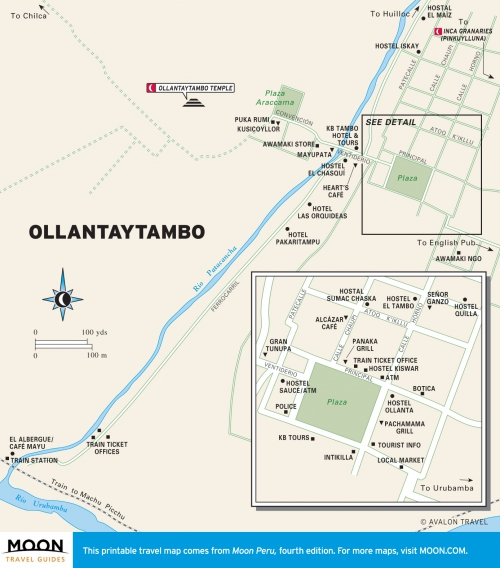 Карта Ольянтайтамбо