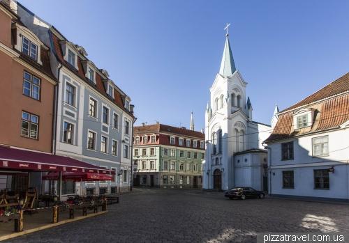 Square in front of the Riga Castle