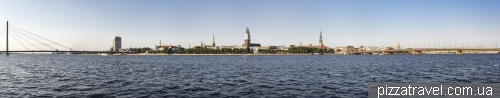 View of Riga from the AB Jetty