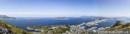 Панорама с горы Sukkertoppen