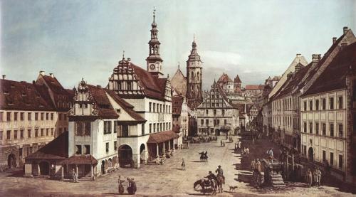 Canaletto. Market square