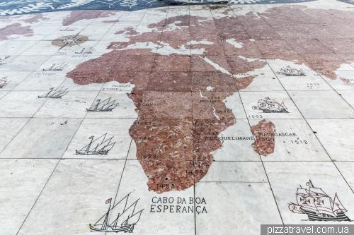 Карта колишніх територій Португалії