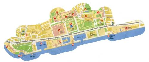Карта району Белем
