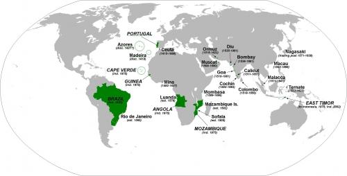 Карта Португальской империи