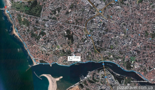 Map of cycle path in Porto
