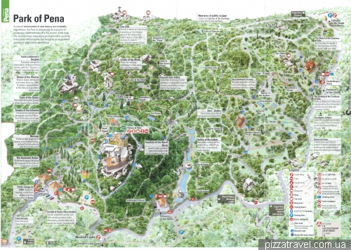 Карта парка дворца Пена