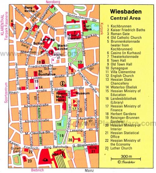 Карта Висбадена