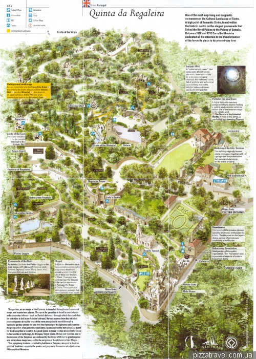 Map of Quinta da Regaleira park