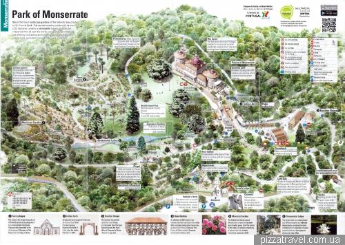 Карта парку Монсеррат