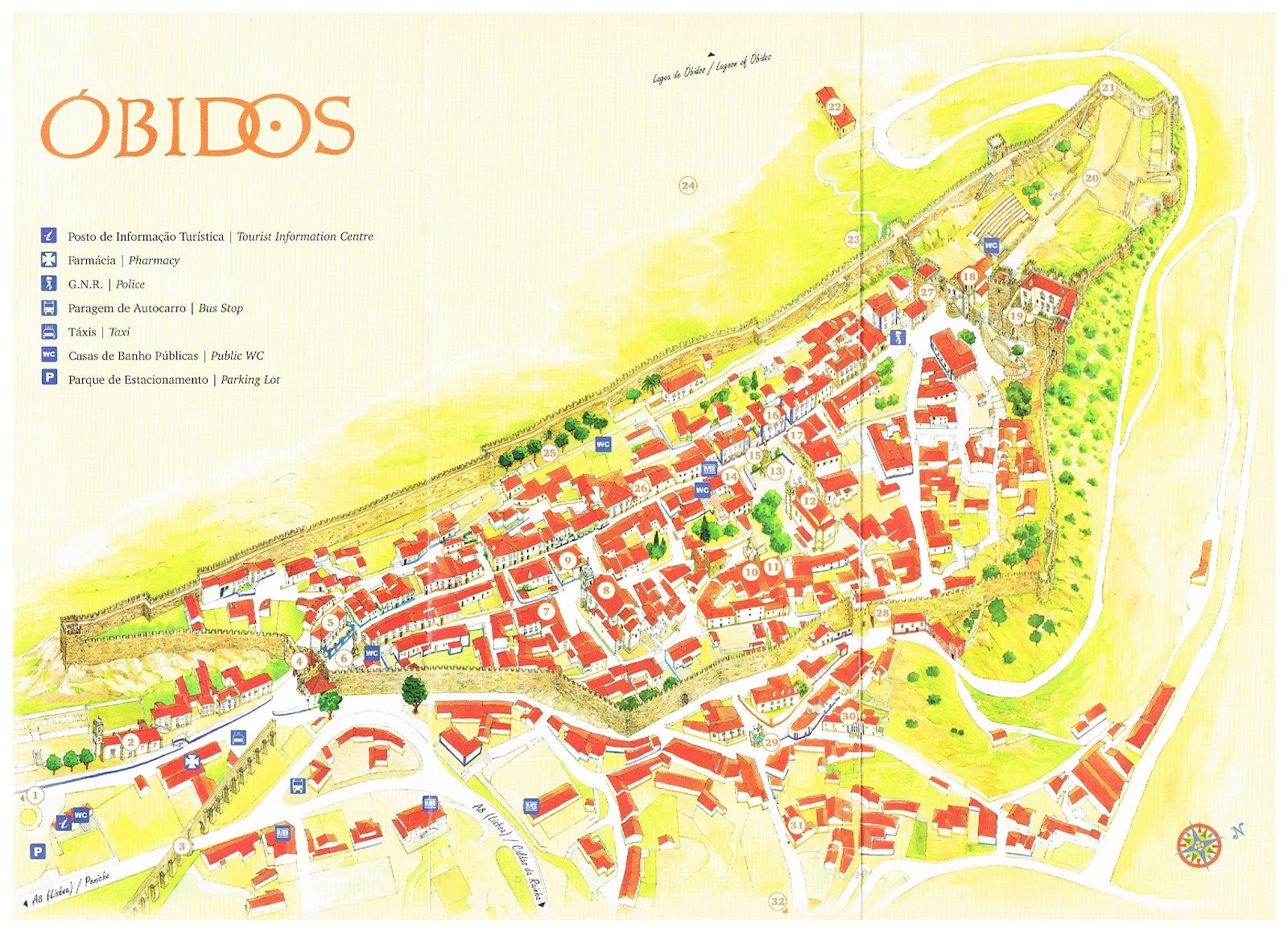 mapa portugal óbidos Obidos   Portugal   Blog about interesting places mapa portugal óbidos