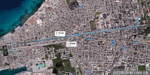 Пешком от канатной дороги в Эриче до автобуса в Палермо
