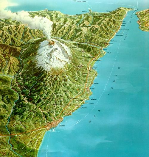 Etna volcano, general view
