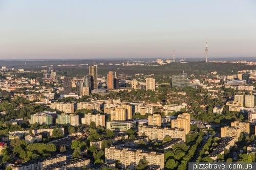 На воздушном шаре над Вильнюсом