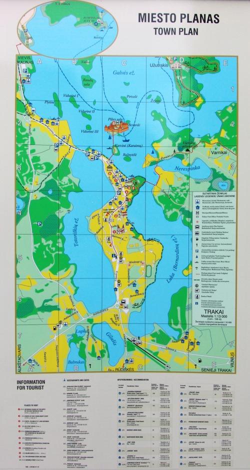 Карта Тракая