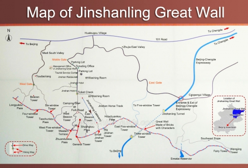 Map of Jinshanling