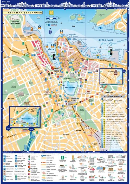 Карта Ставангера