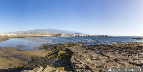El Medano beach on the Tenerife island
