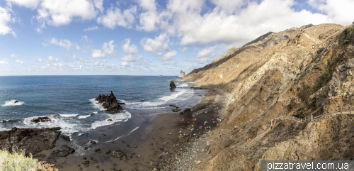 Benijo beach on the Tenerife island