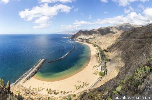 Las Teresitas beach on the Tenerife island