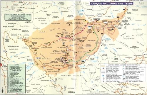 Национальный парк Тейде, карта