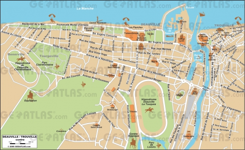 Map of Deauville and Trouville