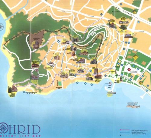 Map of Ohrid