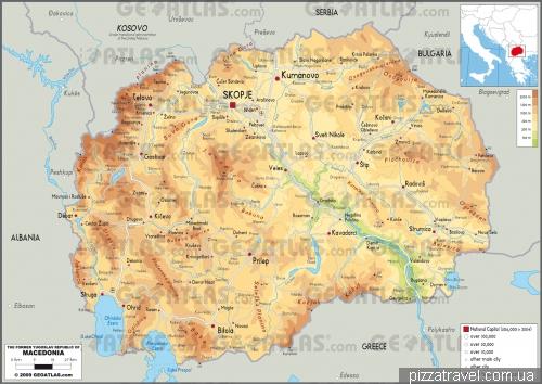 Карта Македонии