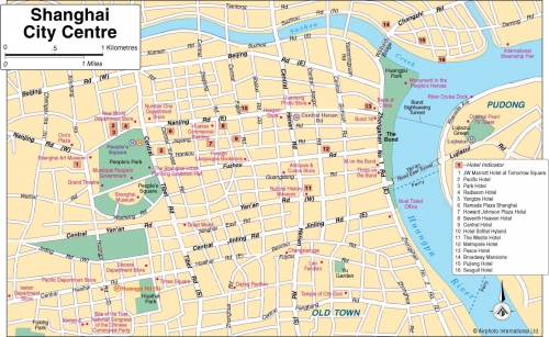 Карта Шанхая
