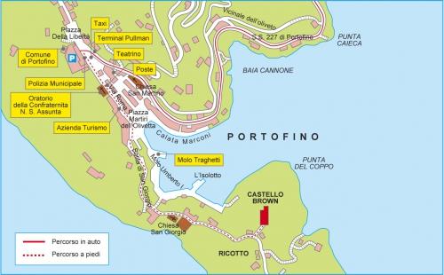 Дорога к замку в Портофино