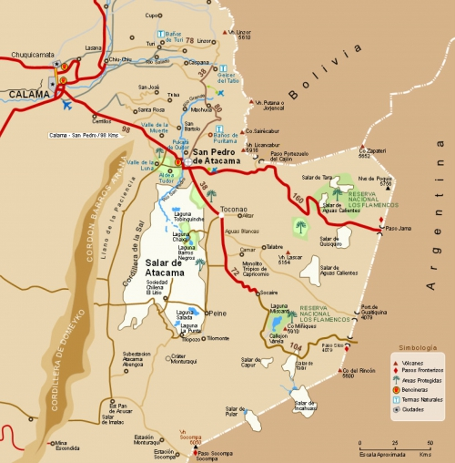 Map of the Atacama Desert