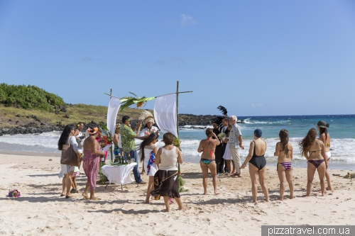 Wedding on the Anakena beach