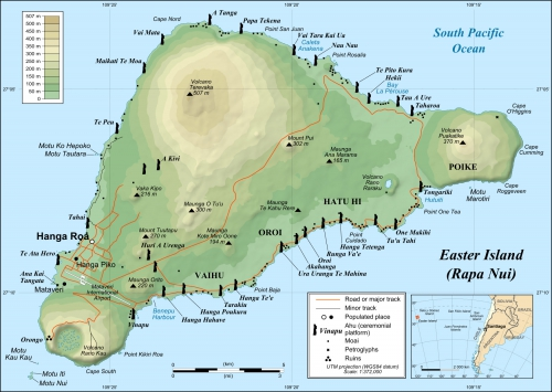 Map of Easter Island