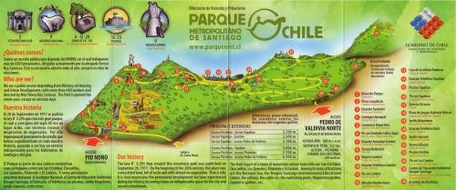 Карта столичного парка в Сантьяго