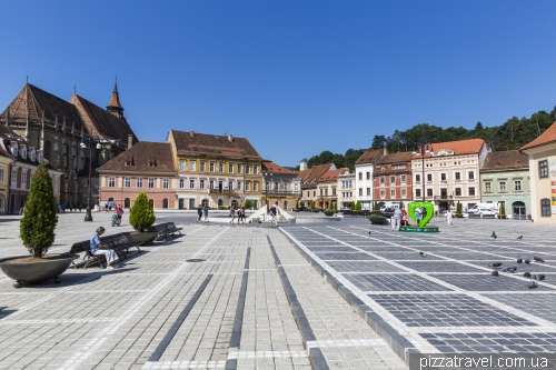 The central square of Brasov