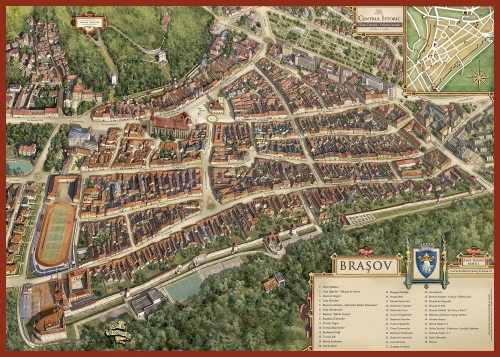 Map of Brasov